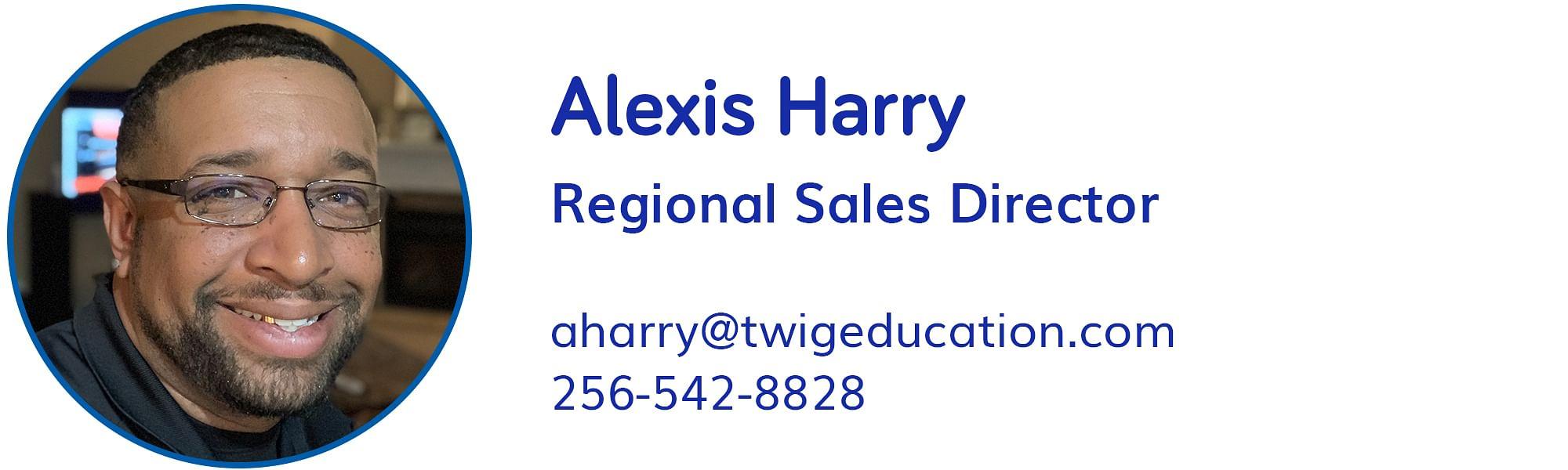 Alexis Harry, aharry@twigeducation.com, 256-542-8828
