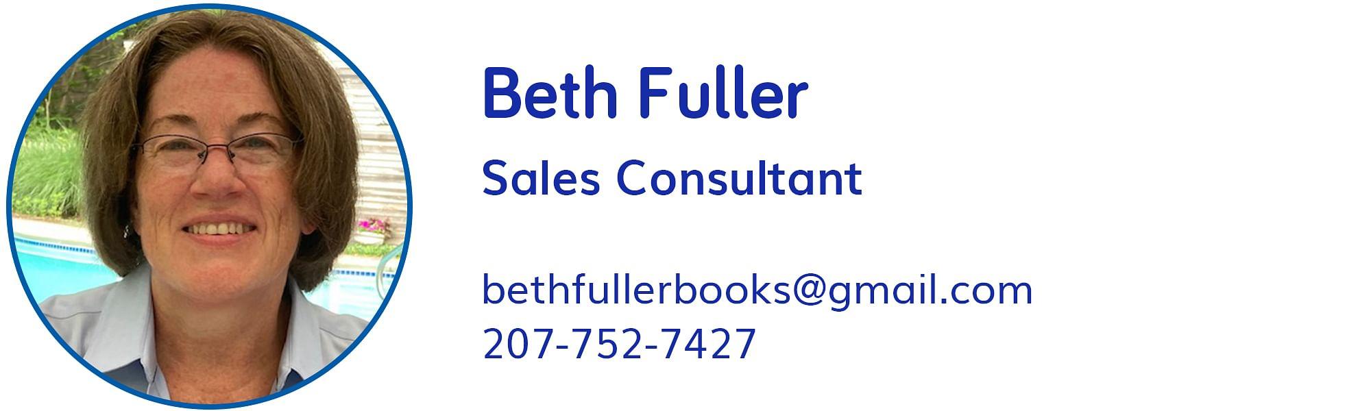 Beth Fuller, bethfullerbooks@gmail.com, 207-752-7427