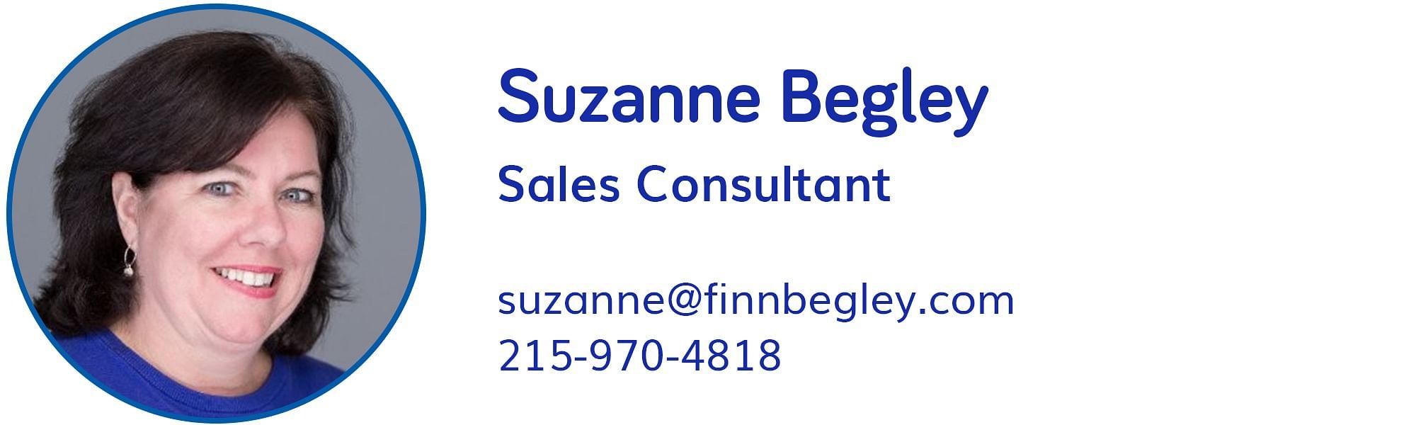 Suzanne Begley, suzanne@finnbegley.com, 215-970-4818
