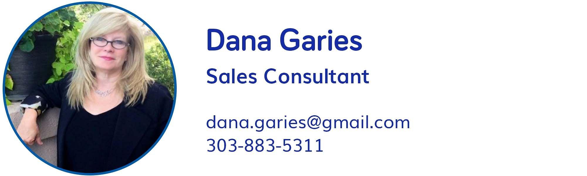 Dana Garies, dana.garies@gmail.com, 303-883-5311