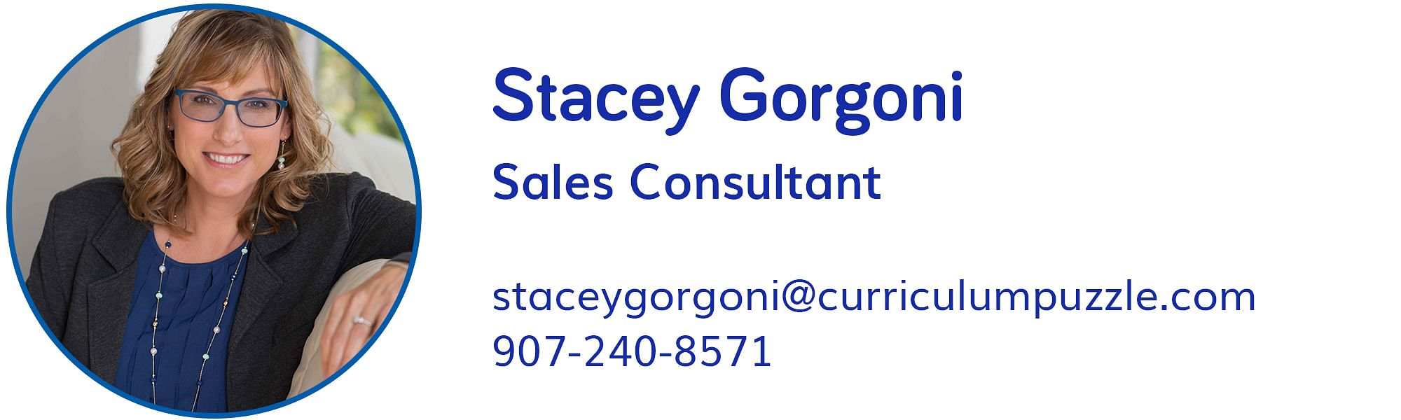 Stacey Gorgoni, staceygorgoni@curriculumpuzzle.com, 907-240-8571
